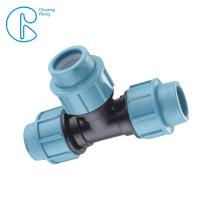 China Irrigation 20 - 110 MM High Density PP Fitting Tee For Quick Connection wholesale