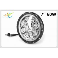 China Round LED Headlight 7 60W LED Combo Beam 5D LED Driving light high beam & Low beam & Atmosphere Light-Blue Halo Ring on sale