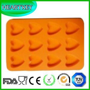 China 12 Love Hearts Bakeware Silicone Cake Mold Ice Cream Chocolate Mold Soap Silicone Mold wholesale