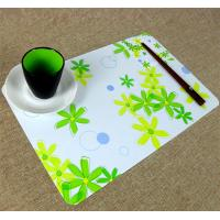 China Large Executive Custom Desk Pad Office Desk Mats With Flower Printed wholesale