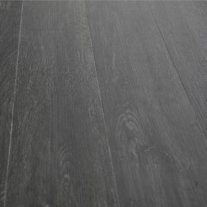 China Black SPC Rigid Core Vinyl Flooring Anti Slip Non Faded Color Dry Backing wholesale