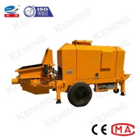 China Mobile Concrete Conveying Spray Hydraulic Concrete Pump For House Construction wholesale