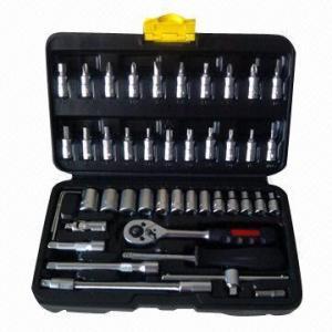 China Socket Wrench Set, 1/4-inch 45pcs Socket Set wholesale