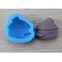 China Pink House Shaped Silicone Soap Molds / Cake Decoration Molds With FDA Approval wholesale
