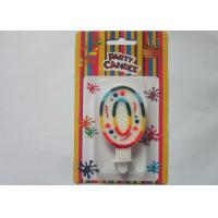 Rainbow Novelty Number Birthday Candles Decorative Number Zero Candle for Party