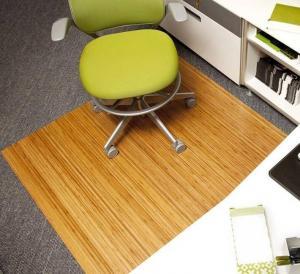 China Rectangular Wood PVC Low Pile Carpet Chair Mat / Office Floor Protection Mats wholesale