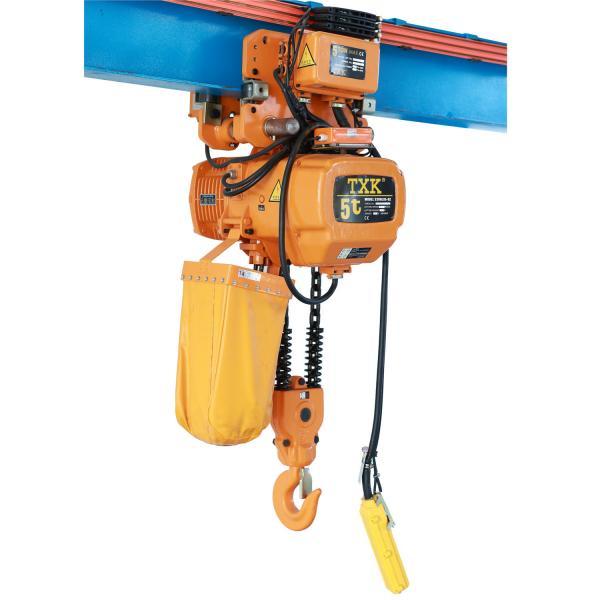 Quality IP55 Construction 5 Ton Chain Hoist , Motorized Industrial Hoist For Lifting Concrete for sale