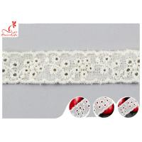China Fashion Embroidered Floral Cotton Eyelet Lace Trim For Nighty Trade Assurance on sale