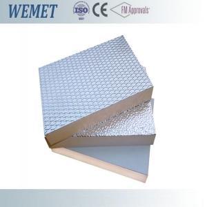 China 20MM HVAC air duct fire retardant phenolic foam insulation board with aluminum foil wholesale