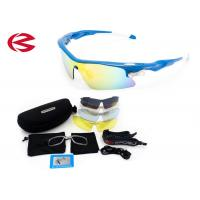 China Custom Cycling Outdoor Sports Sunglasses For Men / Women / Kids 4 Colored Lens wholesale
