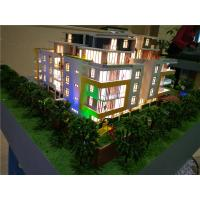 China Physical Architectural Model Building Colorful LED Light Inside 80 * 60CM wholesale