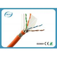 China 23AWG Solid Full Copper Cat6 Cable Bulk , Network Communication Cat 6 Ethernet Cable wholesale