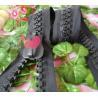 China Long No.15 Metal Derlin Resin Zipper Black For Garment , Reversible wholesale