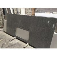 China Silver Grey Granite Prefab Stone Countertops Bar Top Easy Cleaning wholesale