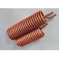 China Energy Saving Finned Copper Coil Heat exchanger For Process Coolers 0.75MM Wall Thickness on sale