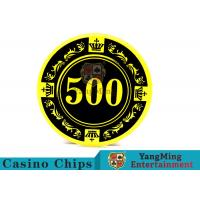 12g Colorful Casino Quality Poker Chips With Crown Screen Convenient To Carry for sale