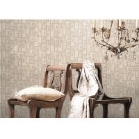 China Removable Non-woven Vintage Style Living Room Wallpaper With Geometric Pattern,Anti-static wholesale