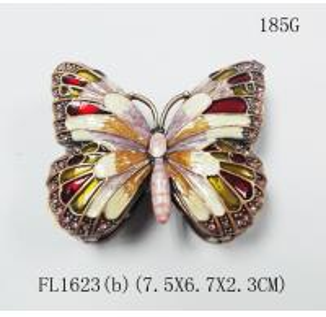 China Cute butterfly shape custom portable nice hot sale jewelry box on sale