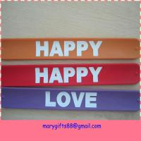 China silicone rubber snap on wristbands wholesale