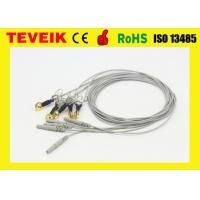 China Medical DIN 1.5 EEG Cable with Ear-clip, Waterproof Gold Plated Copper EEG Electrode Wires wholesale