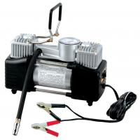 China Silver Two Cylinder 12v Heavy Duty Vehicle Air Compressor With Handle 1 Year Warranty on sale