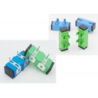 Buy cheap SC APC UPC Optical Cable Adapter With Press Fit Iron Foot Used For PCB Circuit from wholesalers