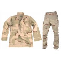 China Desert Woodland Army Camo Suit , Mock - Neck Collar Tactical Camo Clothing on sale