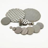 China 1 - 400 Micron Sintered Stainless Steel Filter Disc For Chemical Fiber Film Industry on sale