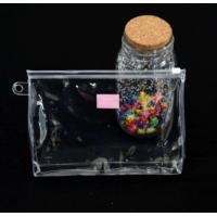 China Customized Makeup PVC Gift Bags , Clear Zip Lock Pouch For Cosmetics wholesale