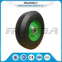 China Galvanized Surface Solid Rubber Wheels , 8 Inch Solid Rubber TiresCentered Hub wholesale