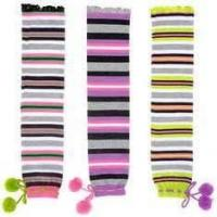 China Customed comfortable soft colorful knee high cotton kids warm socks with knitted pattern wholesale