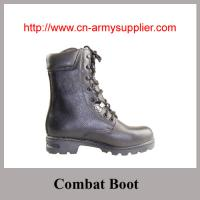 China Military Black Full leather Anckle Combat Boot on sale