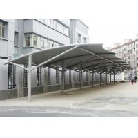 China Professional Tensile Membrane Structures Car Park Shade Structures Steel Cable Tightened wholesale