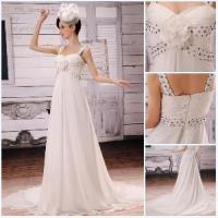 China Front Flower Zipper Back Simple Style Prom Dresses 2012 (BLF-050) on sale