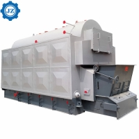 China 6 Ton 6000kg/H Chain Grate Stoker Coal Wood Pellet Fired Steam Boiler For Textile Industry wholesale