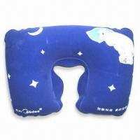 China PVC Comfortable Neck Pillow with 100% Polystyrene Beads Filling, Available in Various Colors wholesale