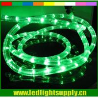 China wal-mart approved factories 2 wire round green christmas neon lights wholesale