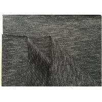China Black White Knit Stretch Wool Fabric With Hong-Kong Style 73% Wool18 Polyester 400 Gram wholesale
