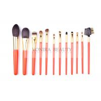 China Artist Orange Limited Edition Makeup Brush Collection With Best Bristles And Nature Wood Handle wholesale