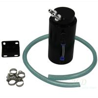 China Aluminium Alloy Endine Oil Catch Tank Cylinder Reservoir Breather Can With Hose wholesale