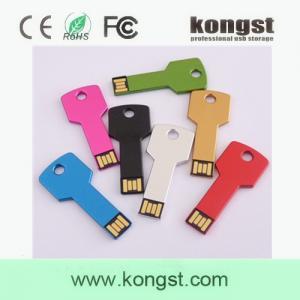 China Kongst Wholesale factory price 4GB Metal Key usb flash Drive on sale , oem logo USB wholesale