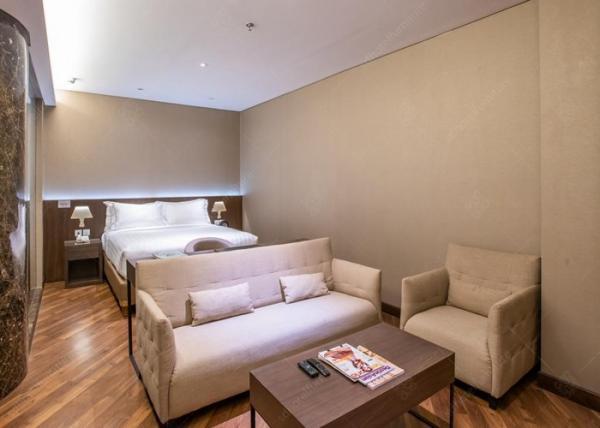 Quality Walnut Veneer Luxury Hotel Bedroom Furniture Sets With Economic Design for sale