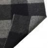 China 5.5cm Checked Fake Tartan Wool Fabric / Melton Wool Fabric For Fashion Coat wholesale