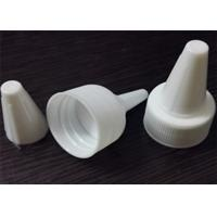 China Pure White Plastic Bottle Screw Caps , PET Bottle Cap With Long Nose on sale