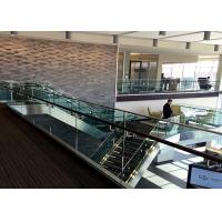 China Commercial Building Aluminum Glass Railing U Channel Metal Stair Railing wholesale