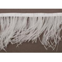 China White Feather Handmade Fringe Trimmings for Apparels and Crafts wholesale