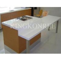China white acrylic solid surface kitchen worktop on sale