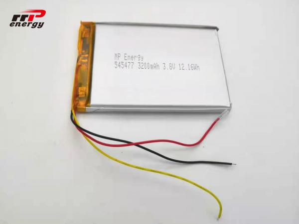 Quality 545477 Hardware Device Lithium Ion Polymer Rechargeable Battery 3.8V 3200mAh for sale