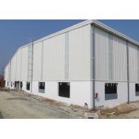China Portal Frame Painting Two Spans Metal Frame Workshop Building With Ridge Vent wholesale