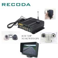 China 4Ch 1080P Dual SD Card 3G/4G/WIFI Real Time Monitor GPS Free Software Mobile Vehicle DVR wholesale